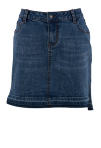 Stetson Hi Lo Denim Skirt - Front