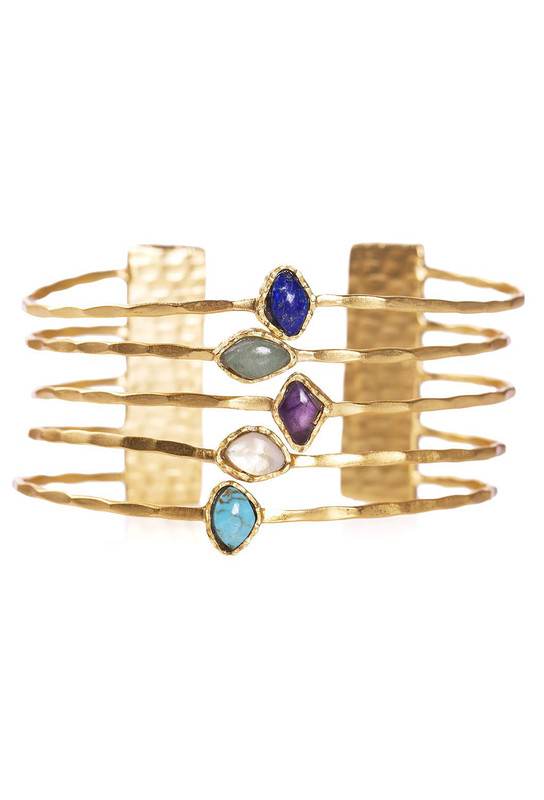 Christina Greene Deco Five Stone Bangle