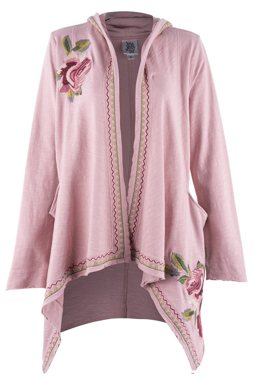 IVY JANE CARDIGAN WITH ROSE EMBROIDERY