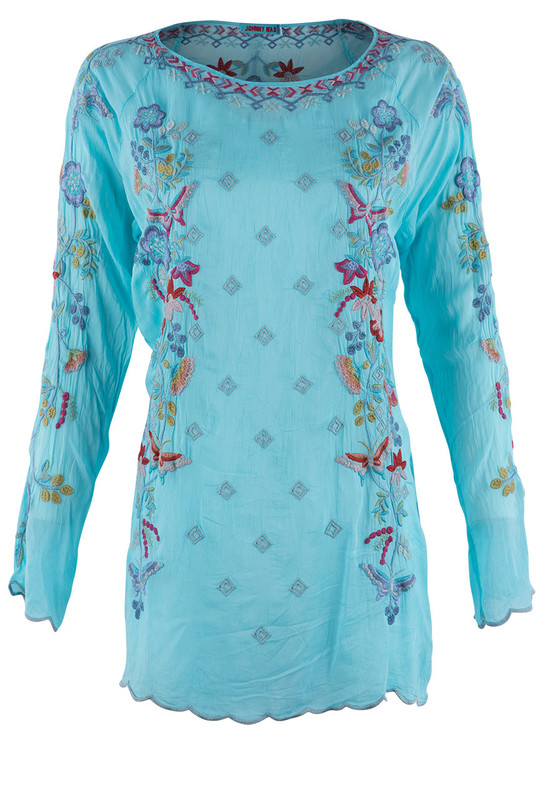 Johnny Was Nico Bright Eye Blouse - Front