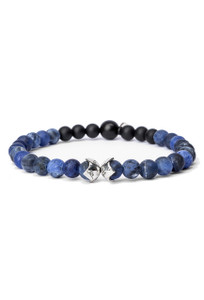Kenton Michael Blue Sodalite Sterling Bead Shields Bracelet