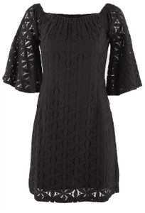 Jade Women's Black Lace Off The Shoulder Dress - Front