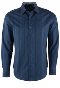 Robert Graham Dyson Navy Sport Shirt - Front