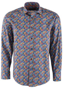 David Smith Jupiter Floral Print Shirt - Front