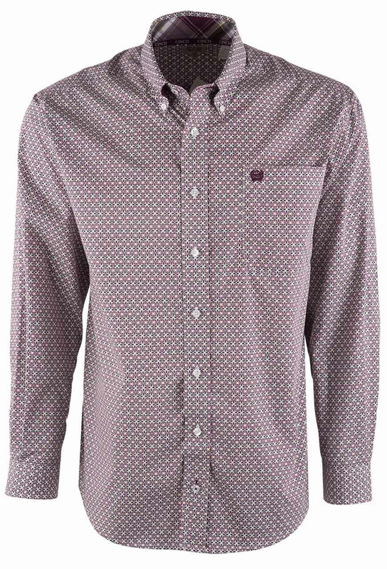Cinch Aztec Multicolor Print Shirt - Front