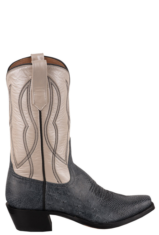 Rios of Mercedes Women's Black Rio Smooth Ostrich Cowboy Boots - Side