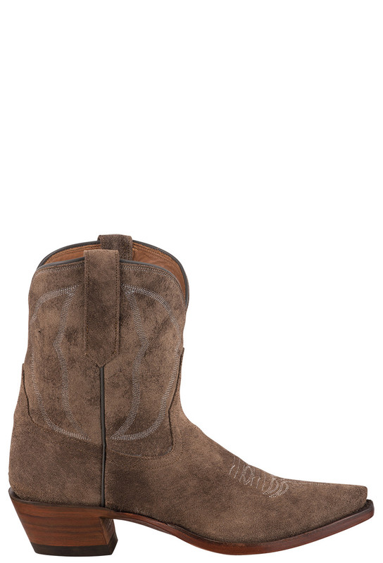 RIOS OF MERCEDES WOMEN'S SHORT SUEDE RIVER ROCK BIRDIE COWBOY BOOTS