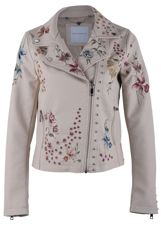 Rino & Pelle Aroyo Floral Motorcycle Jacket - Front