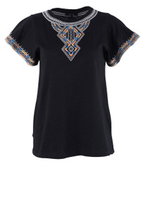 Miss Me Move Along Flutter Top - Black - Front