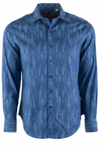 Robert Graham Men's Blue Dream Catcher Sport Shirt - Front