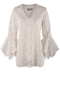 Julian Chang Women's White Amelia Top - Front