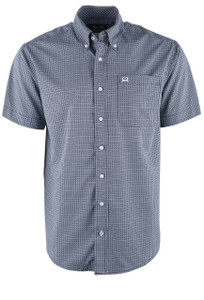 Cinch Men's Black Basketweave ArenaFlex Short Sleeve Shirt - Front