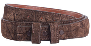 "Handmade Brown Hippo 1 1/4"" - 1"" Tapered Leather Belt Strap - Front"