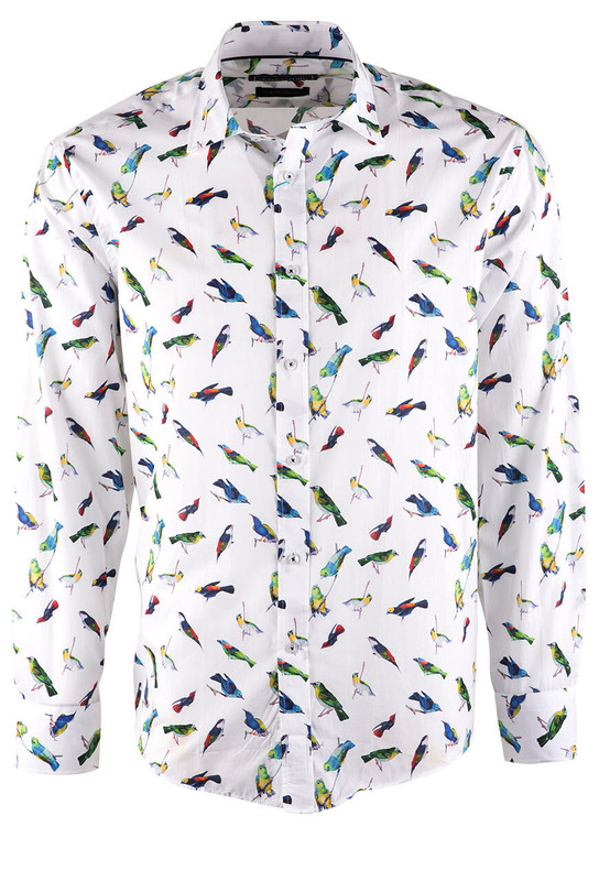 David Smith Sugar Birdies Print Shirt - Front