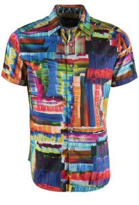 Robert Graham Riskin Short Sleeve Shirt - Front