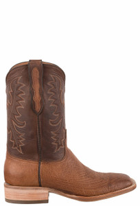 Black Jack Exclusive Burnished Cigar Smooth Ostrich Boots - Side