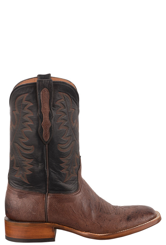 BLACK JACK EXCLUSIVE KANGO BRUCIATO SMOOTH OSTRICH BOOTS