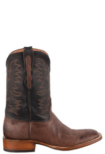 Black Jack Exclusive Kango Bruciato Smooth Ostrich Boots  - Side