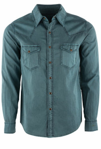 Ryan Michael Spruce Bedford Corduroy Shirt - Front