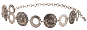 Streets Ahead Round Concho Chain Belt