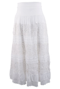 Cute Options Lace Long Skirt - Front