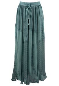 Cute Options Lace Jade Skirt - Front