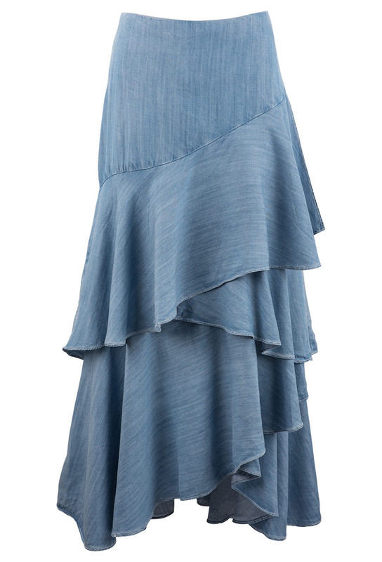 VINTAGE COLLECTION TENCEL RUFFLE SKIRT