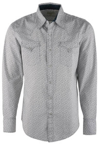 Stetson Gray Mini Floral Snap Shirt- Front