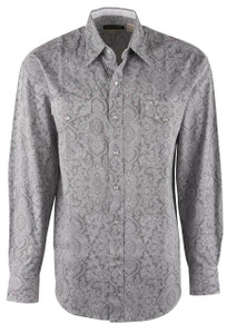 Stetson Gray Filagree Snap Shirt - Front