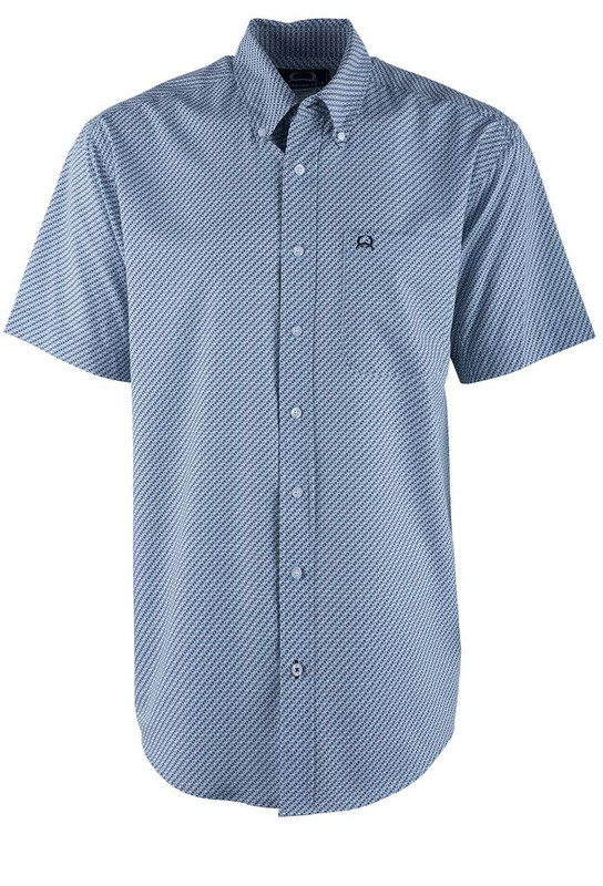 Cinch Light Blue Diamond ArenaFlex Shirt - Front