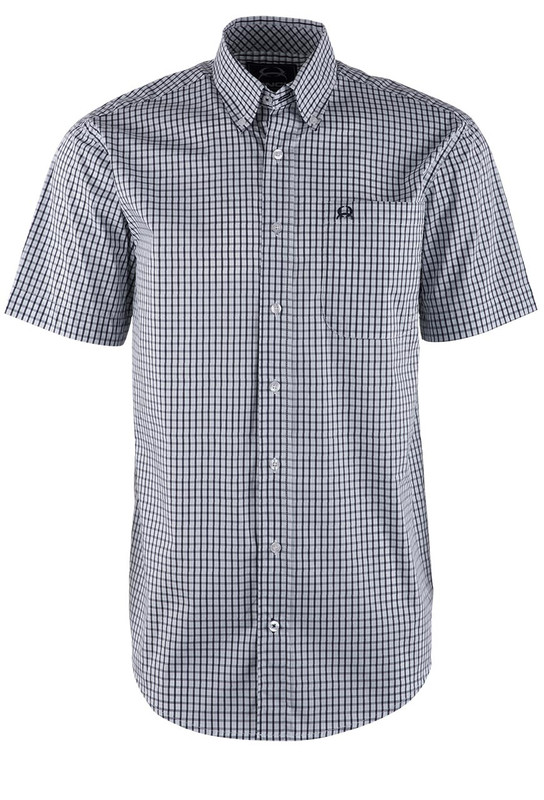 Cinch White Check ArenaFlex Shirt - Front