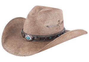 Bullhide Lucid Dreams Pecan Leather Hat - Front