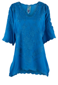 Johnny Was Kelly Cold Shoulder Blouse  - Front