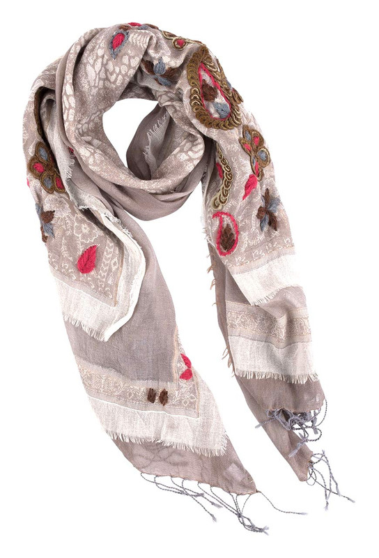 David Jeffrey Earth Cotton Shawl - Front