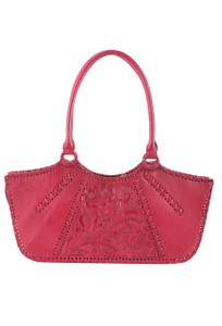 Hide and Chic Valentina Tooled Handbag - Front