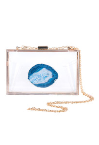 Christina Greene Blue Agate Game Day Clutch - Front