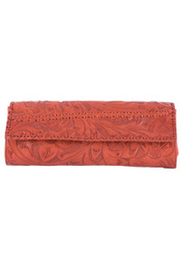 Hide and Chic Sofia Tooled Handbag - Front