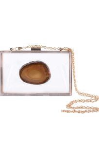 Christina Greene Natural Agate Game Day Clutch - Front
