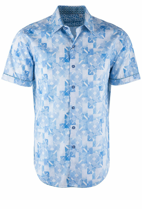 Robert Graham Athens White Short Sleeve Shirt - Front