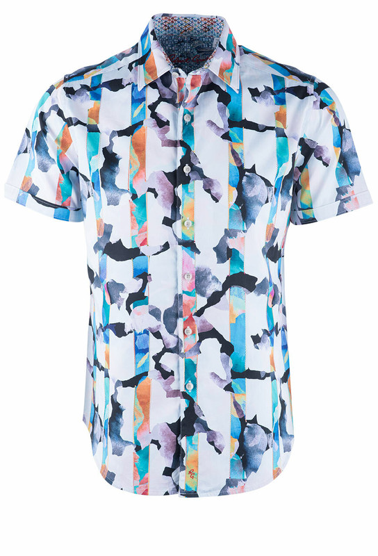 Robert Graham Calazans White Short Sleeve Shirt - Front