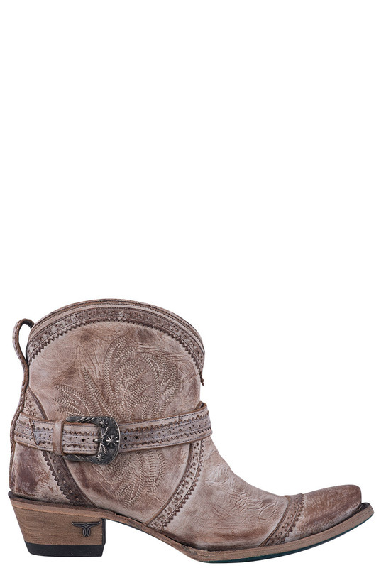 LANE WOMEN'S DUSTY TAN BALLYHOO BOOTIE COWBOY BOOTS