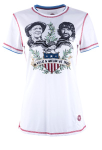 Double D Ranch In Willie & Waylon We Trust Tee - Front