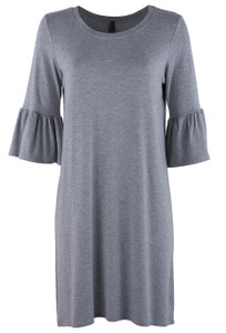 Stetson Women's Heather Gray Jersey Crew Dress - Front