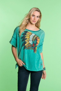DOUBLE D RANCH DISCOVERY MISSION INDIAN CHIEF TOP