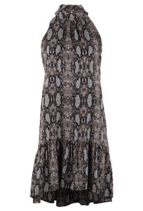 Veronica M Women's Short Pharell Snake Print Hi Low Dress - Front