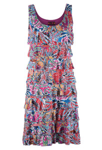 "Isle ""Carnival"" Printed Cha Cha Dress - Front"
