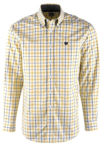 Cinch Yellow Mini Plaid Sport Shirt - Front