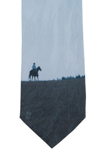 "Rockmount Ltd Edition ""Big Horn Rider"" Silk Tie"