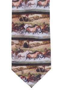 "Rockmount Ltd Edition ""Shooting the Cheyenne River"" Silk Tie"