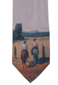 "Rockmount Ltd Edition ""Working the North Pasture"" Silk Tie"